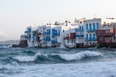 Breakers in front of 'Little Venice' as the wind intensified