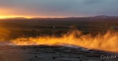 The original geysir at sunrise