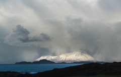 Squall over Rhum from Ardnamurchan