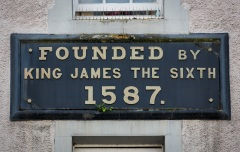 Foundation plaque, KIng James Hospital, Hospital Street