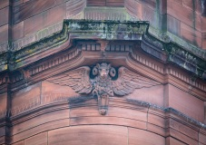 Carved Ram Head, Sandeman Library, Kinnoull Street
