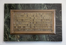 Norrie Miller Chairman Commemorative Plaque, Perth Royal Infirmary Interior