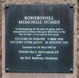 1995 Memorial Plaque, Bowerswell House Exterior