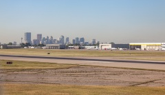 Downtown Calgary from the airport