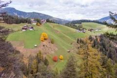 Autumn trees in the Val Badia