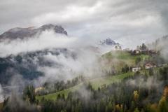 Clouds swirl over the Colle di Santa Lucia