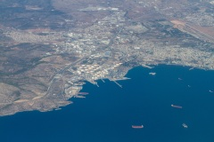 Tanker and gas terminal at Elefsina