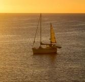 Yacht in Sleepy Bay