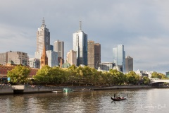 Yarra River with older skyscrapers