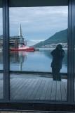 Window 'selfie' in Tromso, Norway
