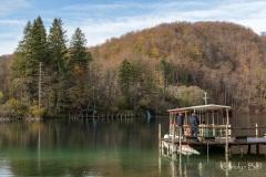 Electric boat on Jezero Kozjak