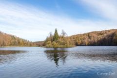 Jezero Kozjak from the boat