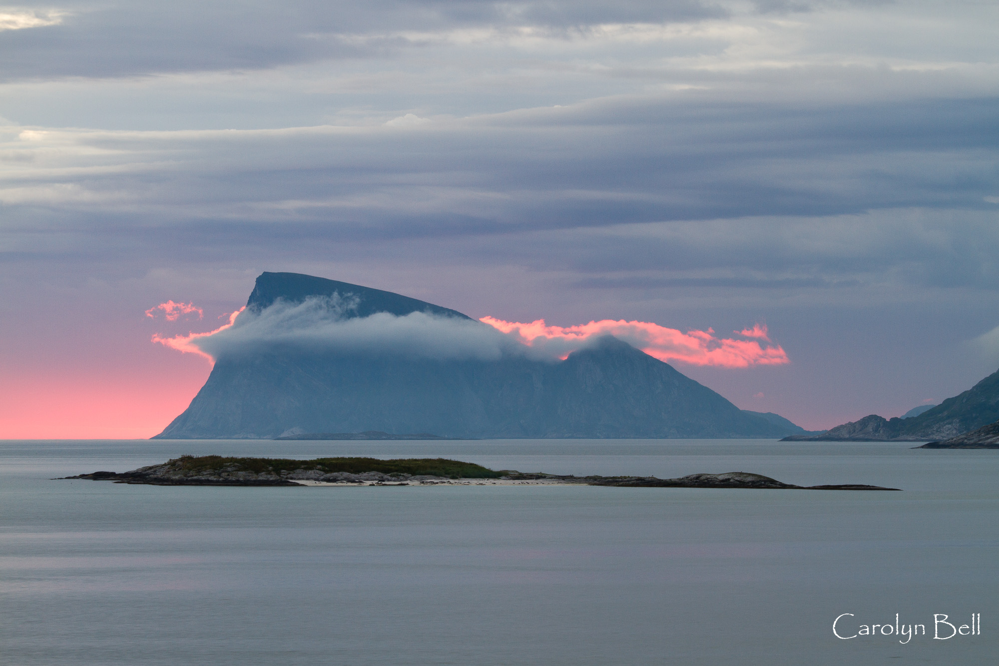 Midnight sun from Sommaroy, Norway