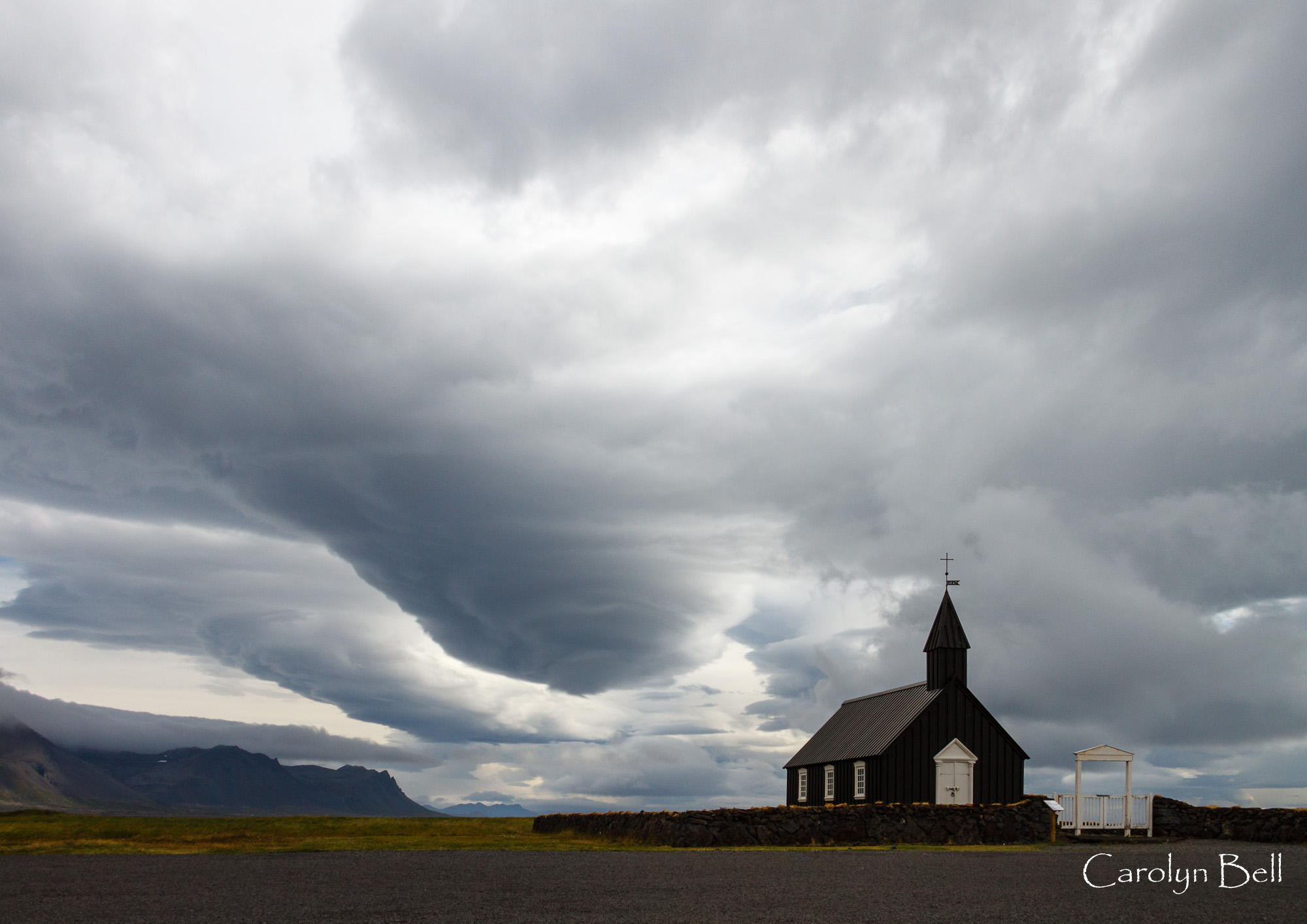 The church at Budir, Iceland