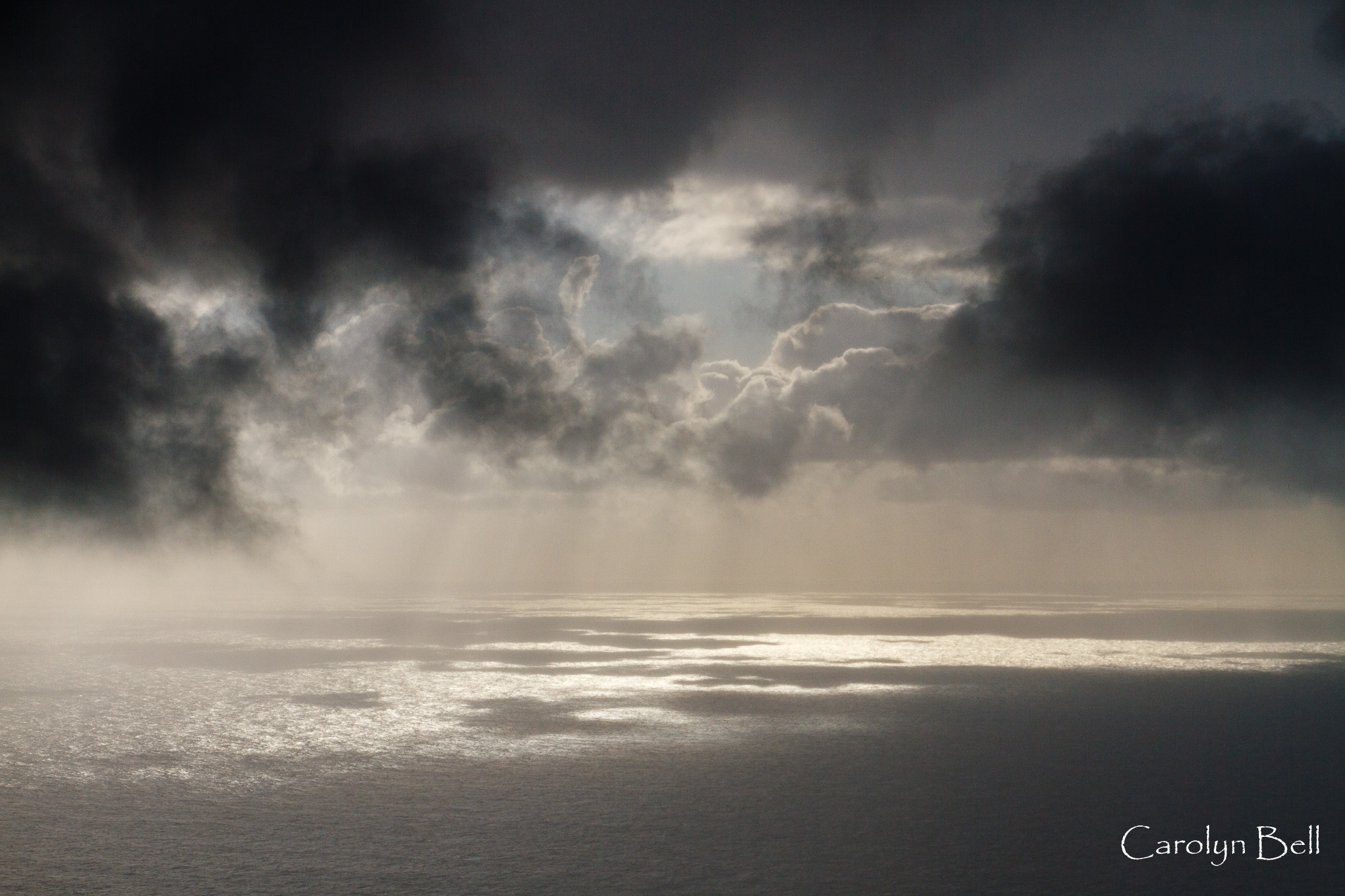 Squall at sea from Quebrada Nova, Madeira