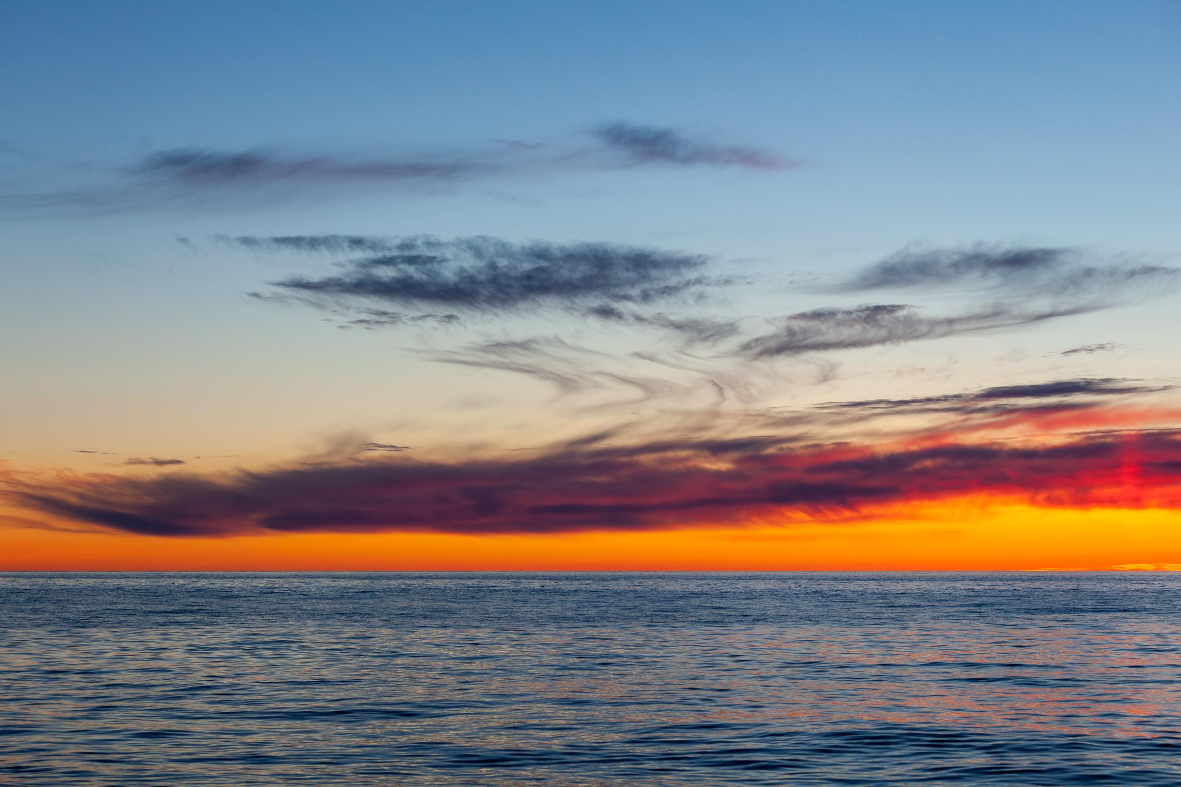 Vivid sunset, Cape Breton Island, Canada