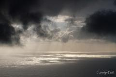 Squall at sea from Quebrada Nova, Madeira