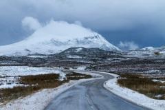 Cul Mor from Ledmore junction, Scotland