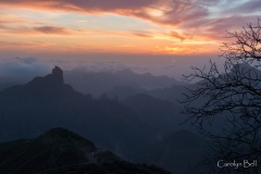 Sunset at Cruz de Tejeda, Gran Canaria
