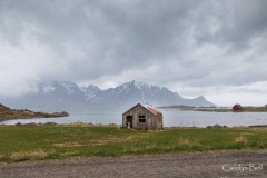 Farm building at Vogspollen, Lofoten, Norway
