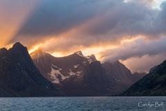Kjerfjord from Reine, Lofoten, Norway