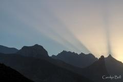 Crepuscular rays in Anaga, Tenerife
