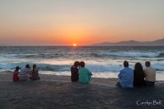 Sharing the sunset, Mykonos, Greece