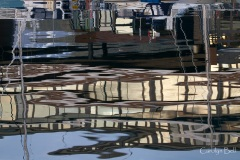 Reflections of Tromso harbour, Norway