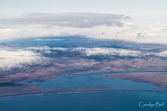 Thingvalla vatn and the Olfusa delta from the air.