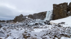Oxarafoss waterfall.