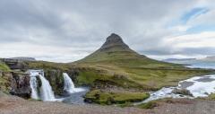 Triple waterfall by Kirkjufell