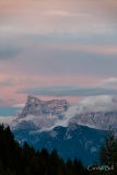 Last light above Monte Pelmo