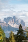The Sassolungo mountains above the Val di Fassa