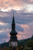 The copper domed church of St Peters, Val di Funes