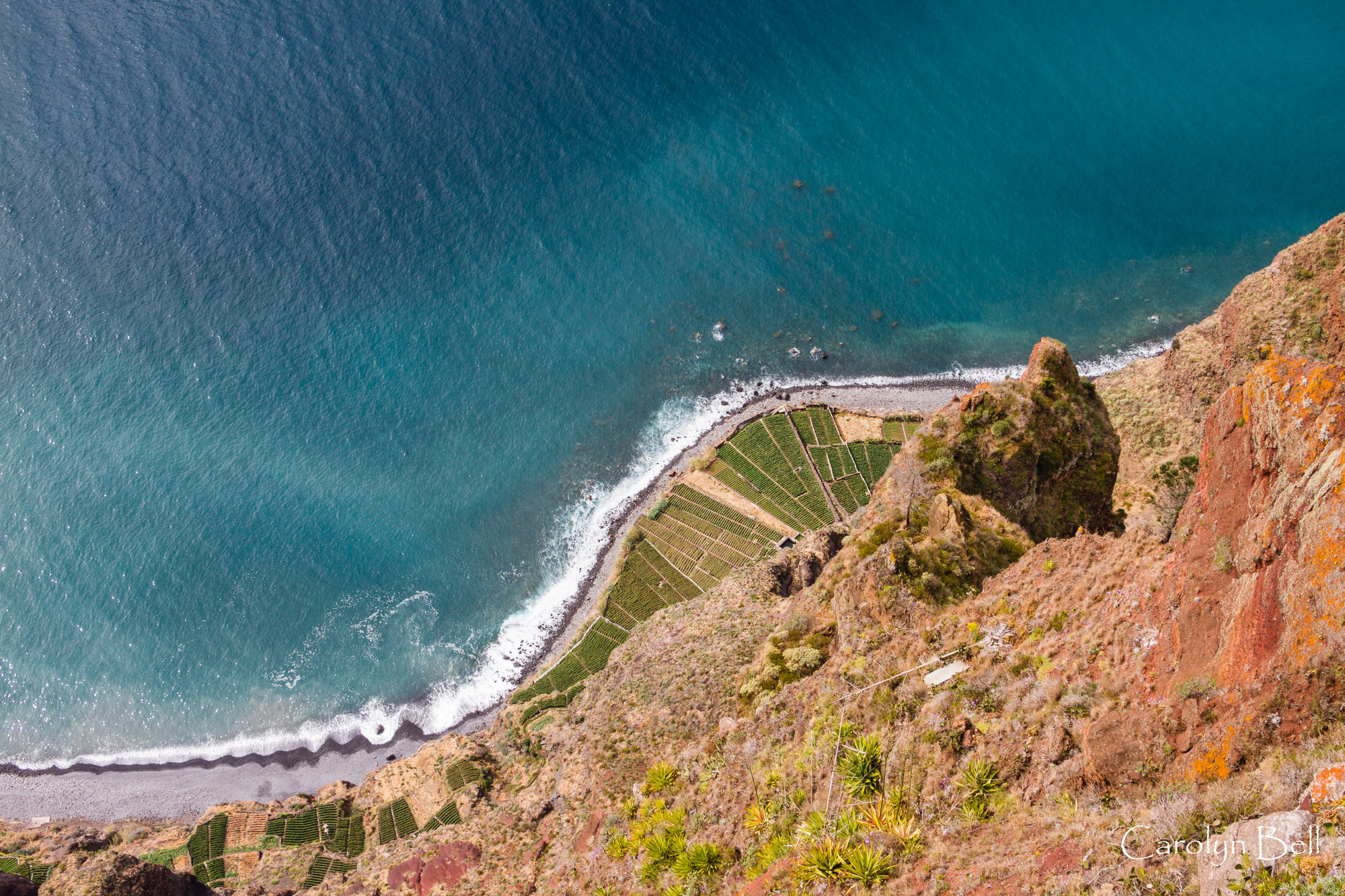 Looking down from the viewing platform, Cabo Girao