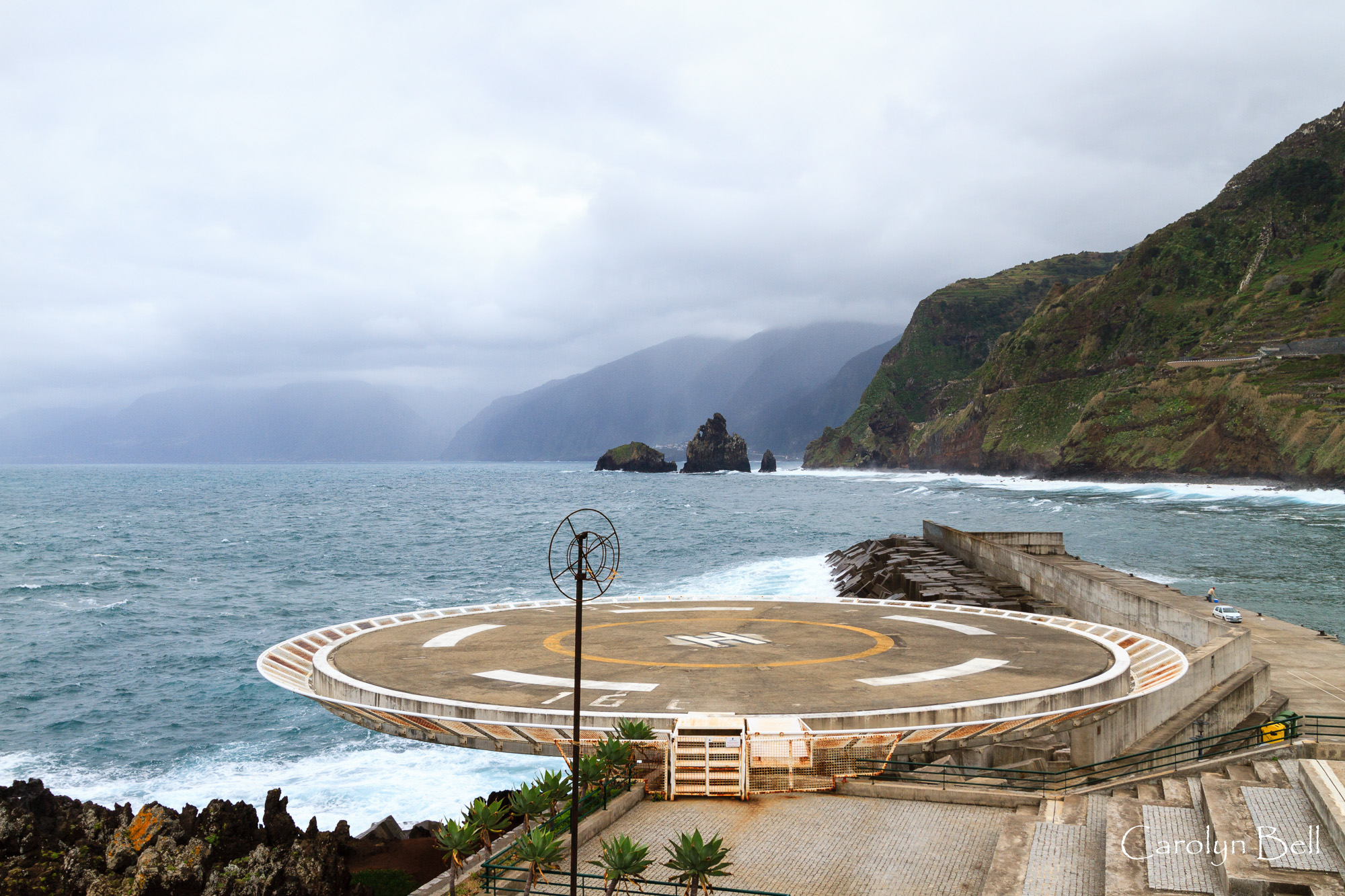Porto Moniz, the helipad