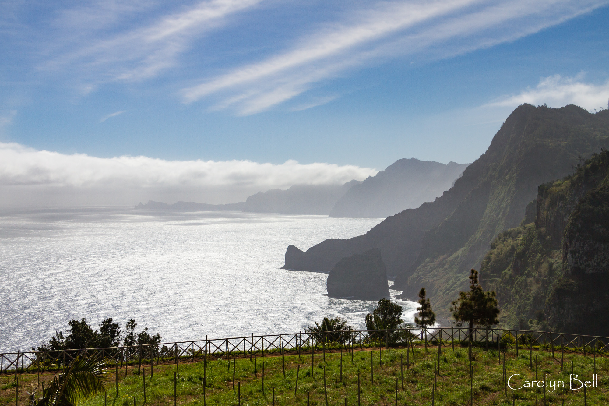 Looking east along the north coast from Quinta do Furao