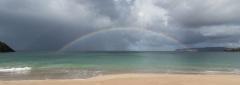 Rainbow at Sango Bay