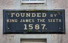 Foundation plaque, KIng James Hospital, Hospital Street