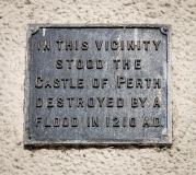 Perth Castle Site Information Plaque, North Port