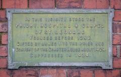 Site of St Leonard's Priory Information Plaque, St Leonard's Bridge