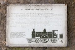 Princes Street Bridge Rail Information Plaque