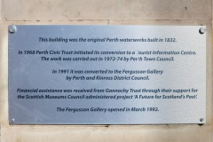 Fergusson Gallery History Plaque, Perth Waterworks, Tay Street