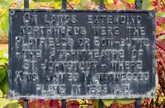 Archery Butts History Plaque, Dewar's Corner, Glasgow Road